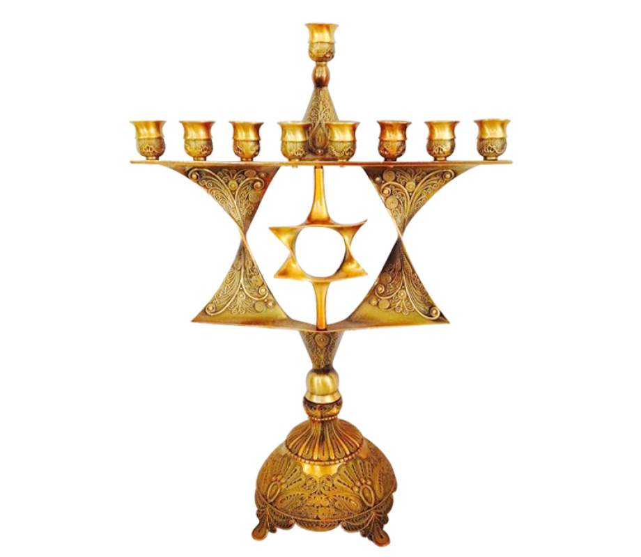 Star-of-David-Menorah